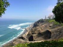 As vistas bonitas de Lima, Peru, olhando para fora no OC pacífico foto de stock royalty free