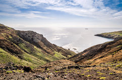 As vistas bonitas na fuga a Ponto fazem o Sao Lourenco, Madeira Fotografia de Stock Royalty Free