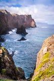 As vistas bonitas na fuga a Ponto fazem o Sao Lourenco, Madeira Imagens de Stock Royalty Free