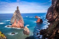 As vistas bonitas na fuga a Ponto fazem o Sao Lourenco, Madeira Fotos de Stock Royalty Free
