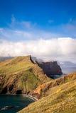 As vistas bonitas na fuga a Ponto fazem o Sao Lourenco, Madeira Fotografia de Stock