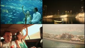 As vistas as mais brilhantes de Dubai United Arab Emirates vídeos de arquivo