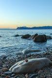 As vistas maravilhosas da praia de Arribolas imagens de stock royalty free