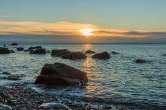 As vistas maravilhosas da praia de Arribolas foto de stock