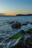 As vistas maravilhosas da praia de Arribolas fotografia de stock