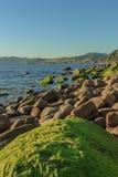 As vistas maravilhosas da praia de Arribolas imagem de stock