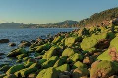 As vistas maravilhosas da praia de Arribolas fotos de stock royalty free