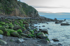 As vistas maravilhosas da praia de Arribolas fotos de stock