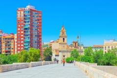 As vistas urbanas de Valência, são o capital da comunidade do vale Fotos de Stock Royalty Free