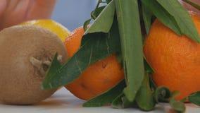 As vitaminas de recomendação dos frutos do doutor consomem em vez da cura médica dos comprimidos video estoque