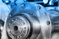 As voor industriële machines Gestemd blauw stock foto