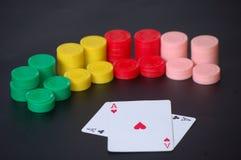 As y virutas del póker Foto de archivo libre de regalías