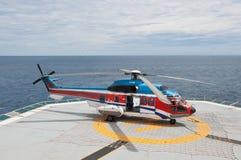 as332l超级直升机的美洲狮 库存图片