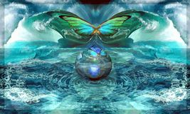 A asa-batida de uma borboleta, chamando o furacão Foto de Stock Royalty Free