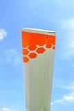 Asa branca do planador Imagens de Stock