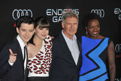 Asa Butterfield & Hailee Steinfeld & Harrison Ford & Viola Davis Royalty Free Stock Images