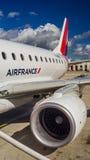Asa da turbina do motor do avião Foto de Stock Royalty Free
