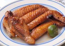 Asa de galinha do BBQ imagens de stock