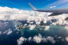 Asa de um avião fotos de stock royalty free