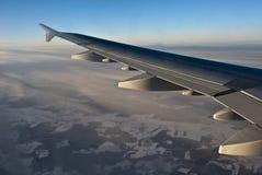 Asa do avião Imagens de Stock Royalty Free