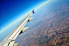Asa do avião Imagem de Stock
