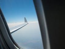 Asa do avião do voo Imagem de Stock Royalty Free