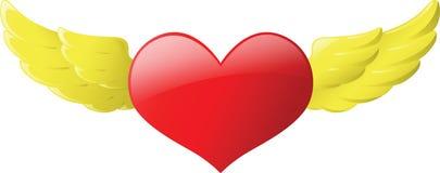 Asa do coração Foto de Stock Royalty Free
