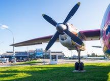 Asa, motor e hélice do avião Fotos de Stock