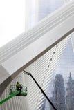Asa no ponto zero em New York City que está sendo limpado Imagem de Stock