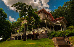 Asa Packer Mansion, Jim Thorpe, Pensilvânia imagem de stock