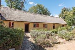 Asa traseira da casa de Kuhnel em Genadendal, construída 1800 Imagem de Stock Royalty Free