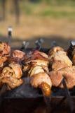 Asación de la carne en la parrilla Imagen de archivo libre de regalías