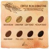Asación de los granos de café Imagen de archivo