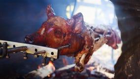 Asación del cerdo Fotos de archivo