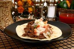 Asada del carne del Tacos Imagen de archivo libre de regalías