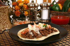 Asada del carne del Tacos Foto de archivo