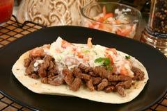 Asada del carne del Tacos Imagenes de archivo