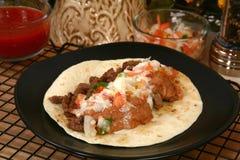 Asada del carne del Tacos Imágenes de archivo libres de regalías