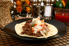 Asada van taco's carne Royalty-vrije Stock Afbeelding