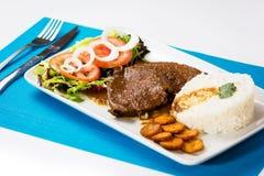 Asado黑人委内瑞拉人典型的食物 免版税库存照片