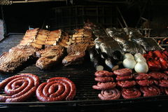 Asado, Argentine barbaque Royalty Free Stock Photos