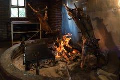 Asado de Cordero en EL Calafate, Argentine Photo libre de droits