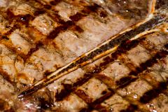 ASADO, URUGUAYAN FOOD IN MONTEVIDEO. Grilled meat in barbecue with flames and coals Stock Photography