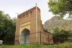 Asaf ibn Burhiya陵墓在奥什市,吉尔吉斯斯坦 免版税图库摄影