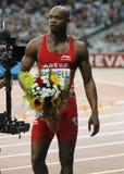 Asafa Powell Areva meeting at the Stade de France Stock Images
