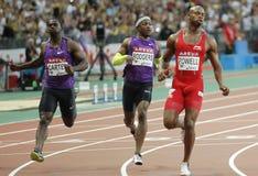 Asafa Powell Areva meeting at the Stade de France Stock Image