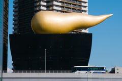 Asahi Beer Hall förlägger högkvarter i Sumida, Asakusa, Tokyo, Japan Arkivbilder