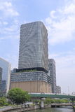 Asahi Shinbun building in Osaka Japan Royalty Free Stock Photo
