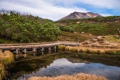 Asahidake-Gipfel Stockbild