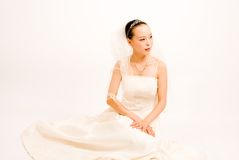 Asain bride Royalty Free Stock Photography